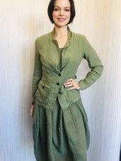 Dress (green) Washed linen £159 Jacket (Green only) 100% linen £139