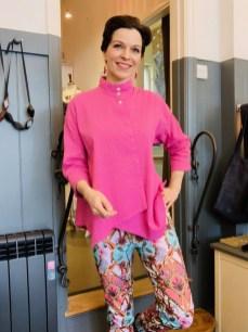 Yacco Maricard Pin tucked Diagonal Cotton Shirt One Size £219