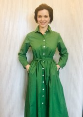 Green dress 100% cotton dress £89 Small Medium Large