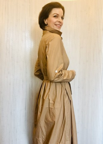 Camel dress 100% cotton dress £89 Small Medium Large