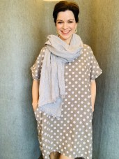 Linen dress Taupe £59 One Size
