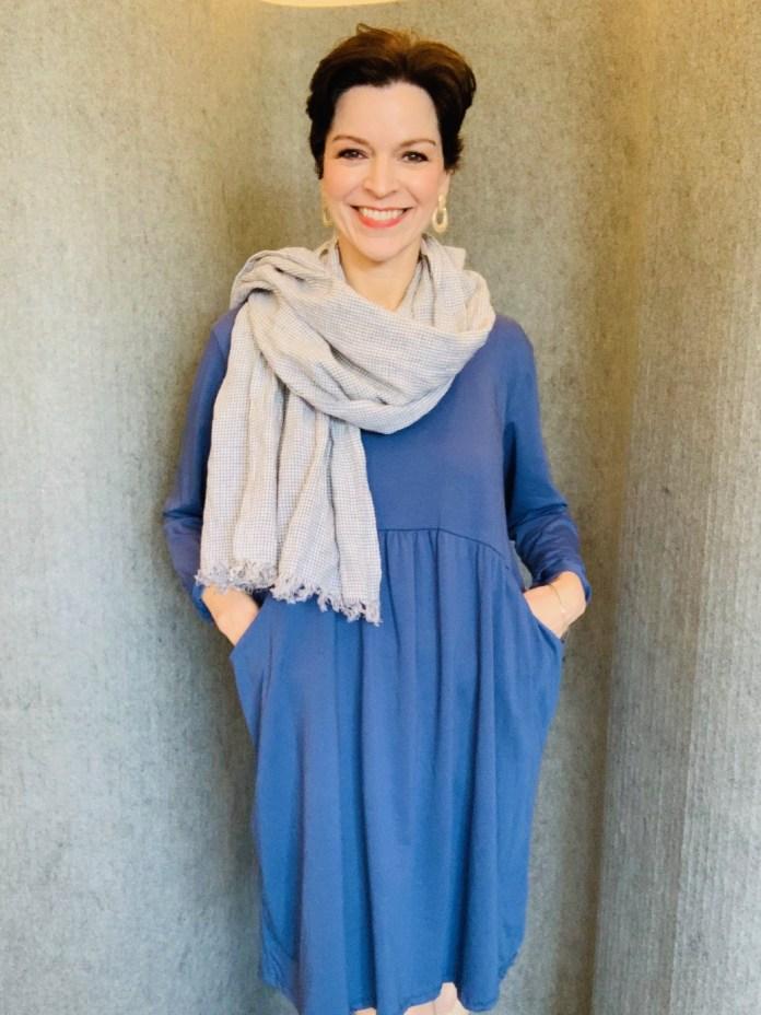 Blue Pocket Dress £39 One Size