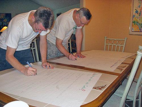 Casa María planning sessions