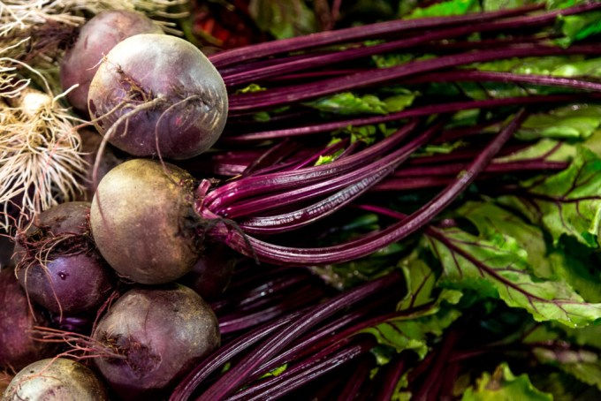 beetroot at the Italian market