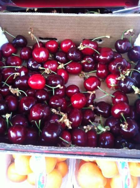 cherries in Italian farmer's market