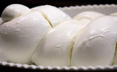 Braided mozzarella enjoyed in Amalfi