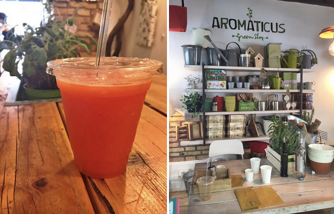 Aromaticus juice bar in Rome