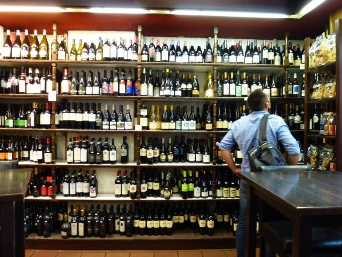 Enoteca Bulzoni wine bar in Rome