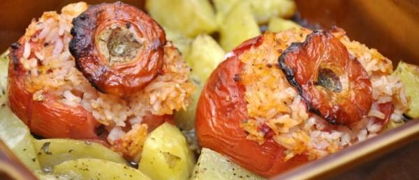 rice-stuffed tomatoes · www.italyfoodandwinetours.com