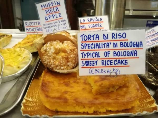 torta di riso, Bologna day trip