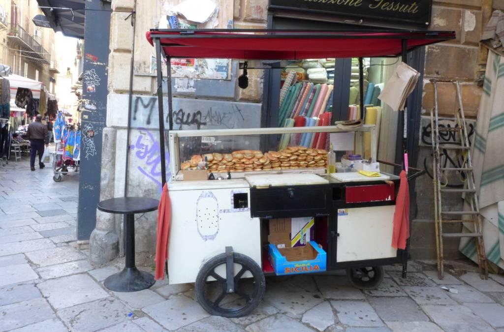 Palermo's version of Sicilian pizza: sfincione