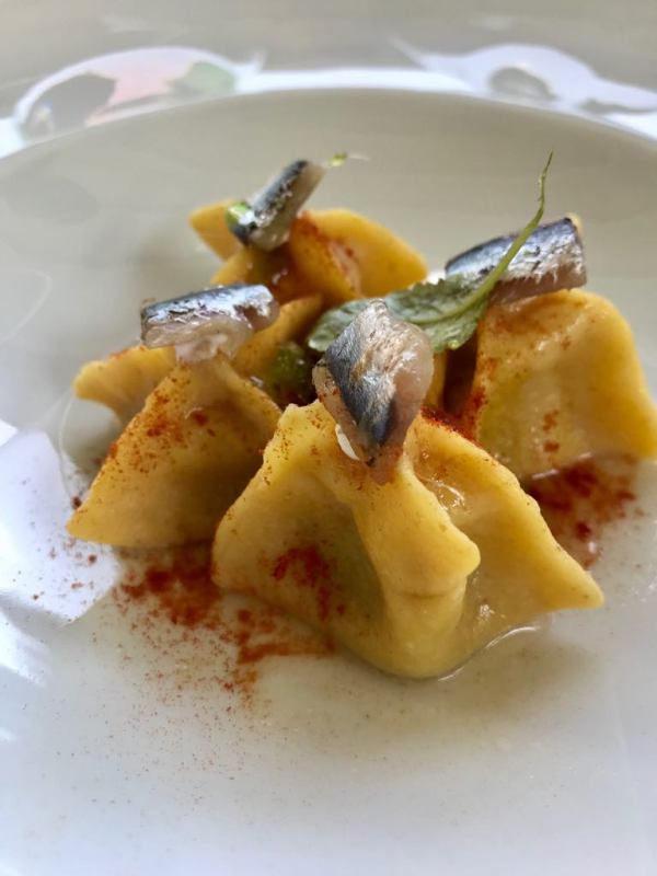 butter and anchovy ravioli