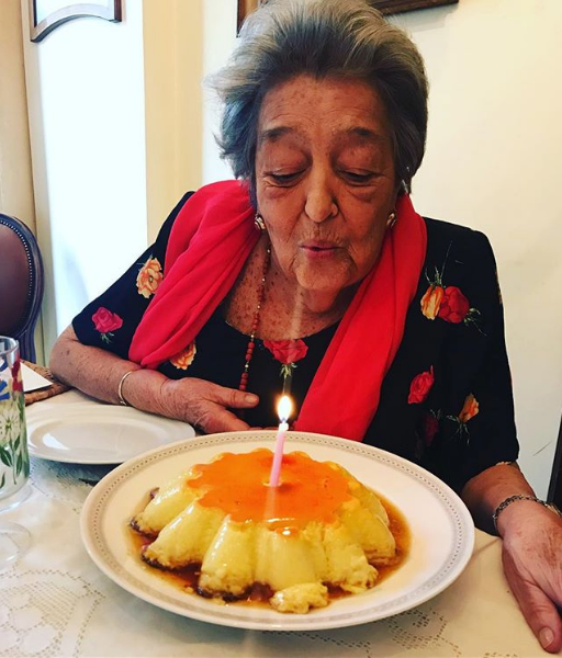 mom celebrated with crème caramel