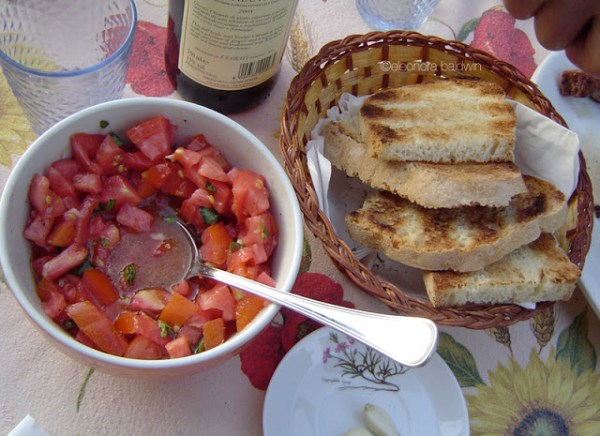 bruschetta to extend the life of bread