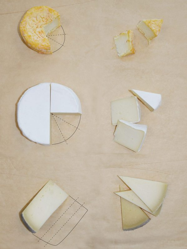 how you cut cheese depends on shape, size, rind and texture