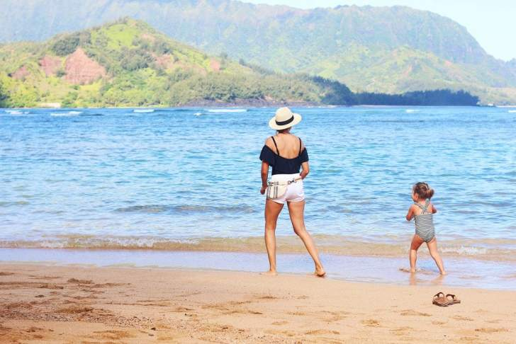 St. Regis Princeville, playing at the beach, Kauai with kids