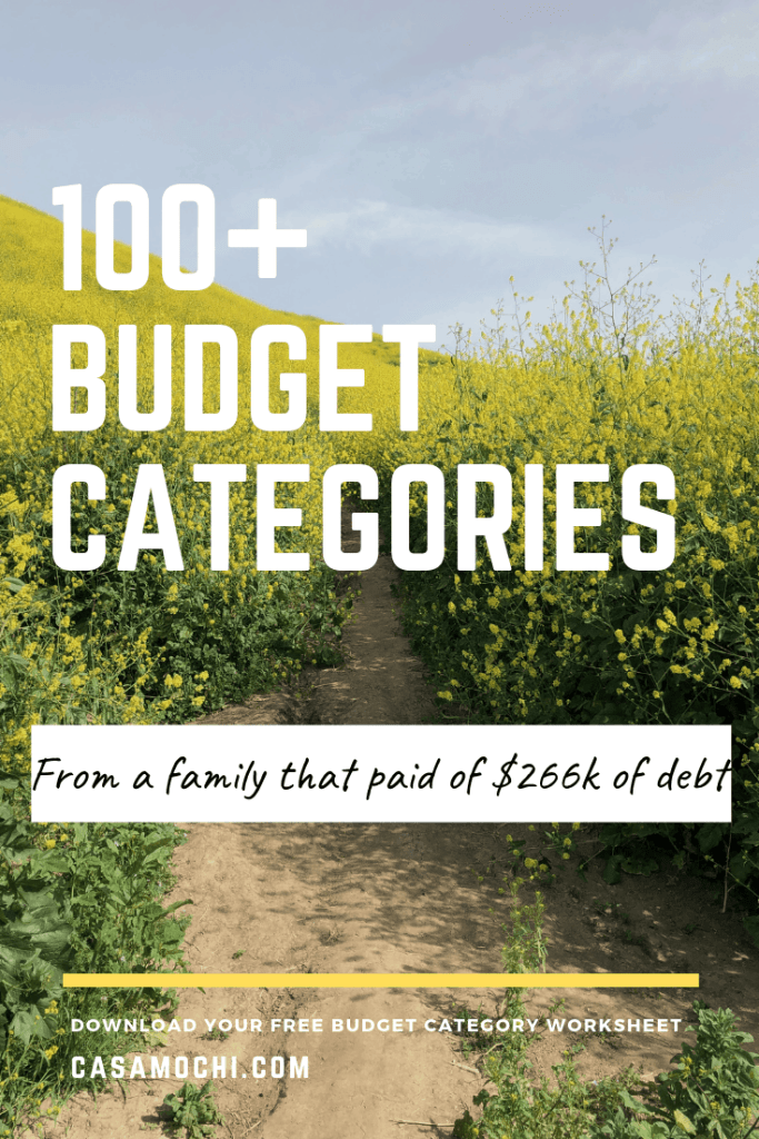 Budget Categories image