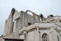 Igreja do Carmo (met verwoest dak door de aardbeving van 1755)