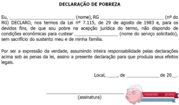 Declaração de Pobreza