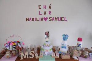 Chá lar Marília e Samuel