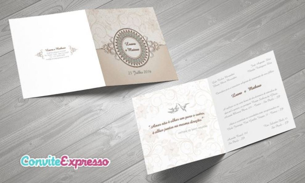 Convites de casamento baratos da Convite Expresso