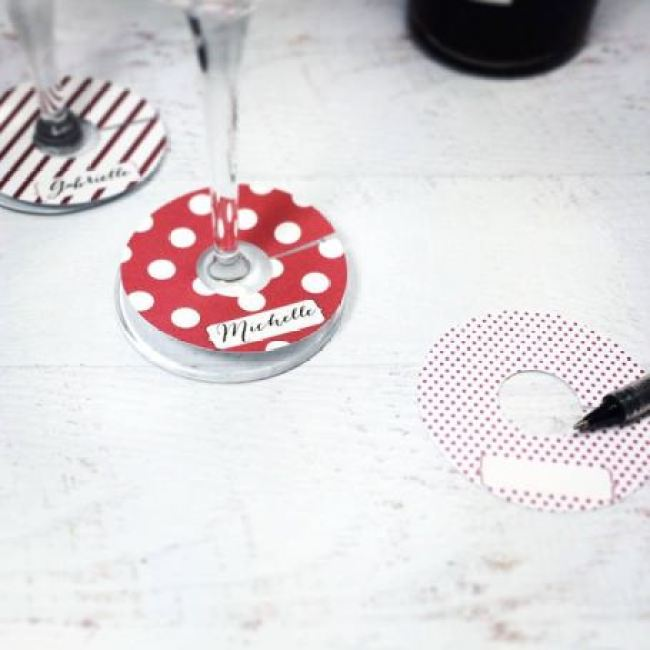 Faça você mesmo tutorial DIY marcadores de taças para decoração do seu casamento