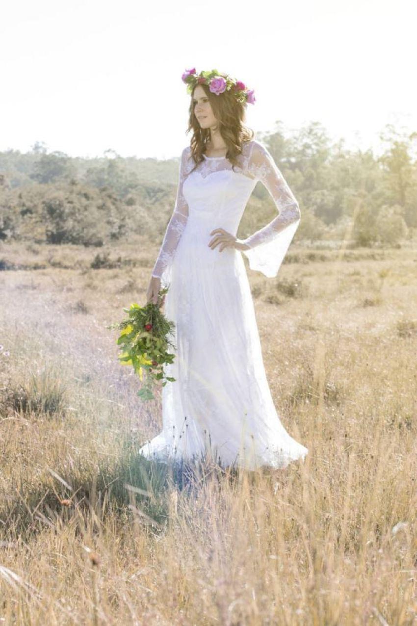 Quanto tecido comprar para fazer seu vestido de noiva boho