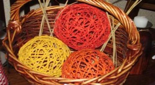 Bolas de hilo sisal para decorar for Bolas de cristal decorativas