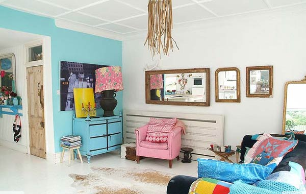 Casa con decoraci n ecl ctica y vintage - Decoracion casa original ...