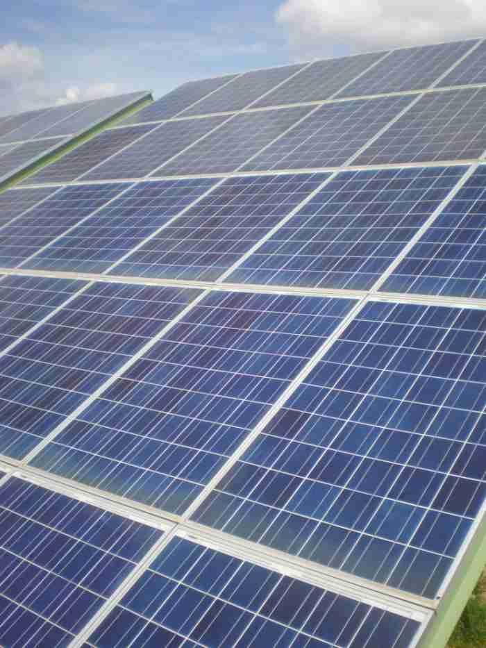energía con paneles solares