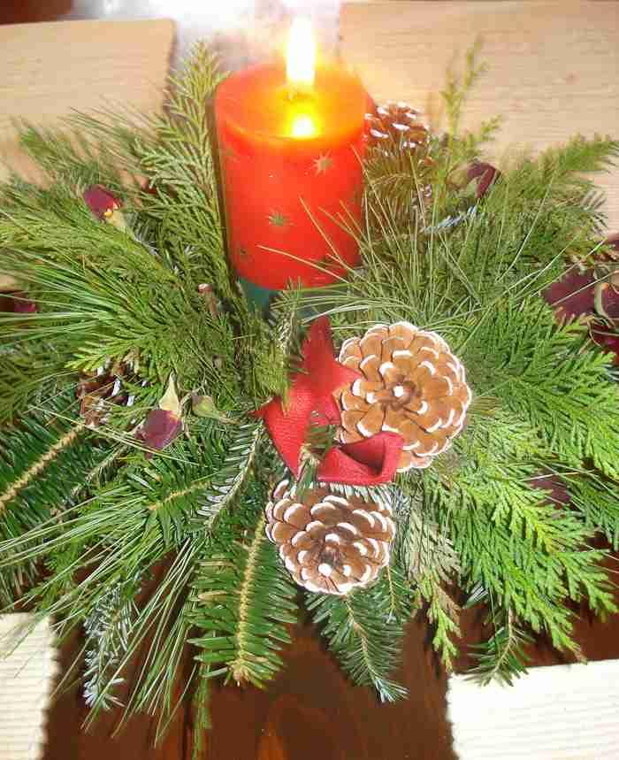ideas de centros de mesa para navidad segunda parte On centros de navidad con pinas