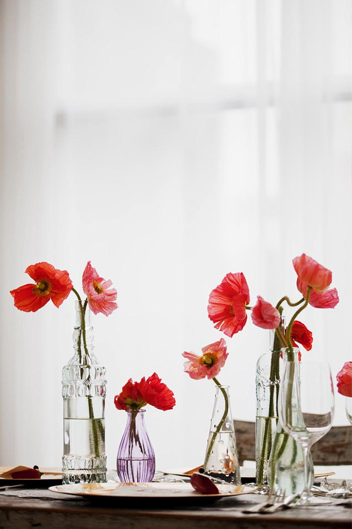 centro de mesa con flores
