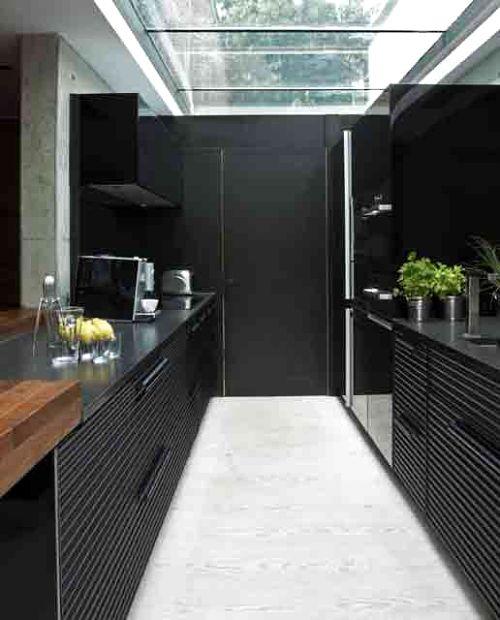 cocina moderna negra