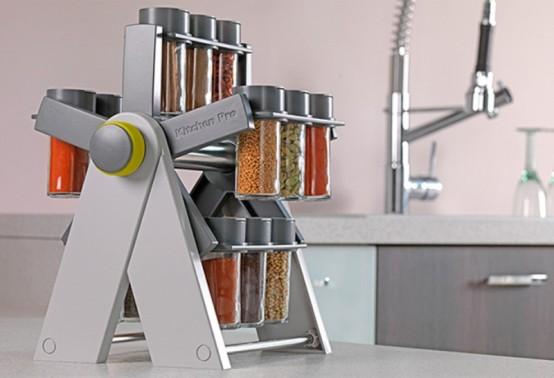 Cocina m s pr ctica con un moderno especiero for Cocina practica