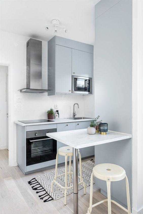 mobiliario para una cocina minima