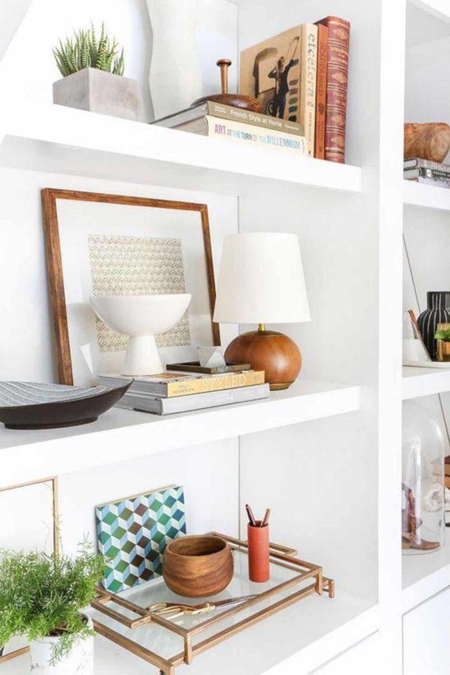 como decorar estanterías