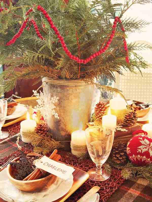 Ideas para hacer centros de mesa de navidad for Ideas mesa navidad