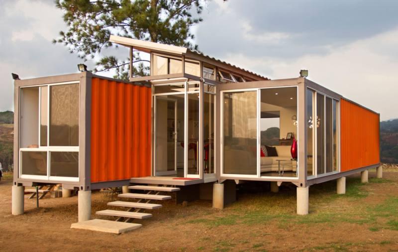 contenedores convertidos en viviendas