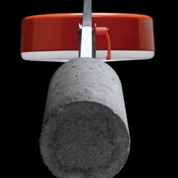 Detalle del contrapeso en cemento
