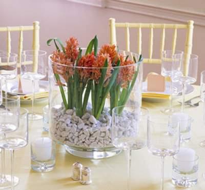Centros de mesa y arreglos florales en jarrones de cristal - Jarrones de cristal decorados ...