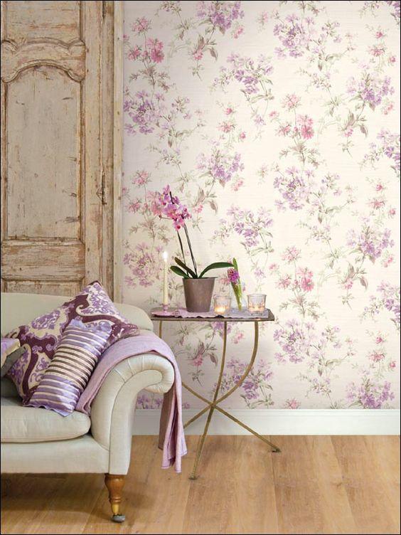 diseño floral en los muros