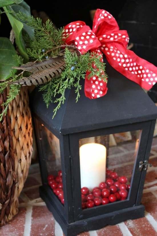 idea para decorar exteriores en Navidad