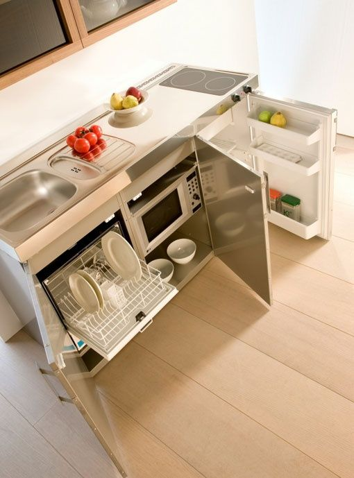 ideas para cocinas compactas