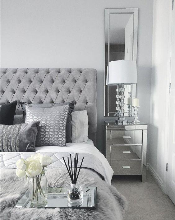 interior con paleta gris