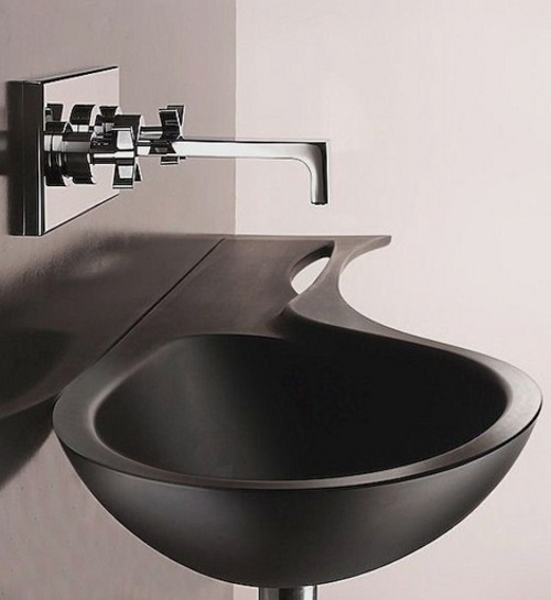 Cool small bathroom sinks. 1412 oval artistic silver tempered ...