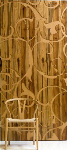 Revestimiento de madera reciclada