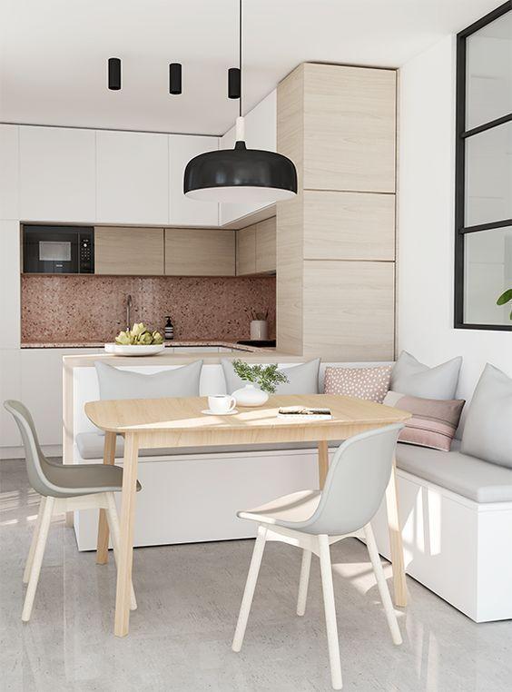 mini cocinas abiertas al salon