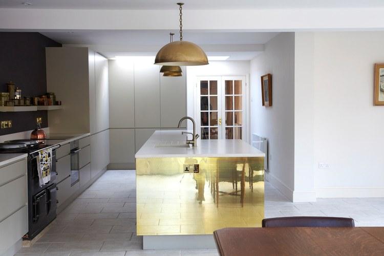 Mix de materiales y estilos en una cocina - Materiales para muebles de cocina ...