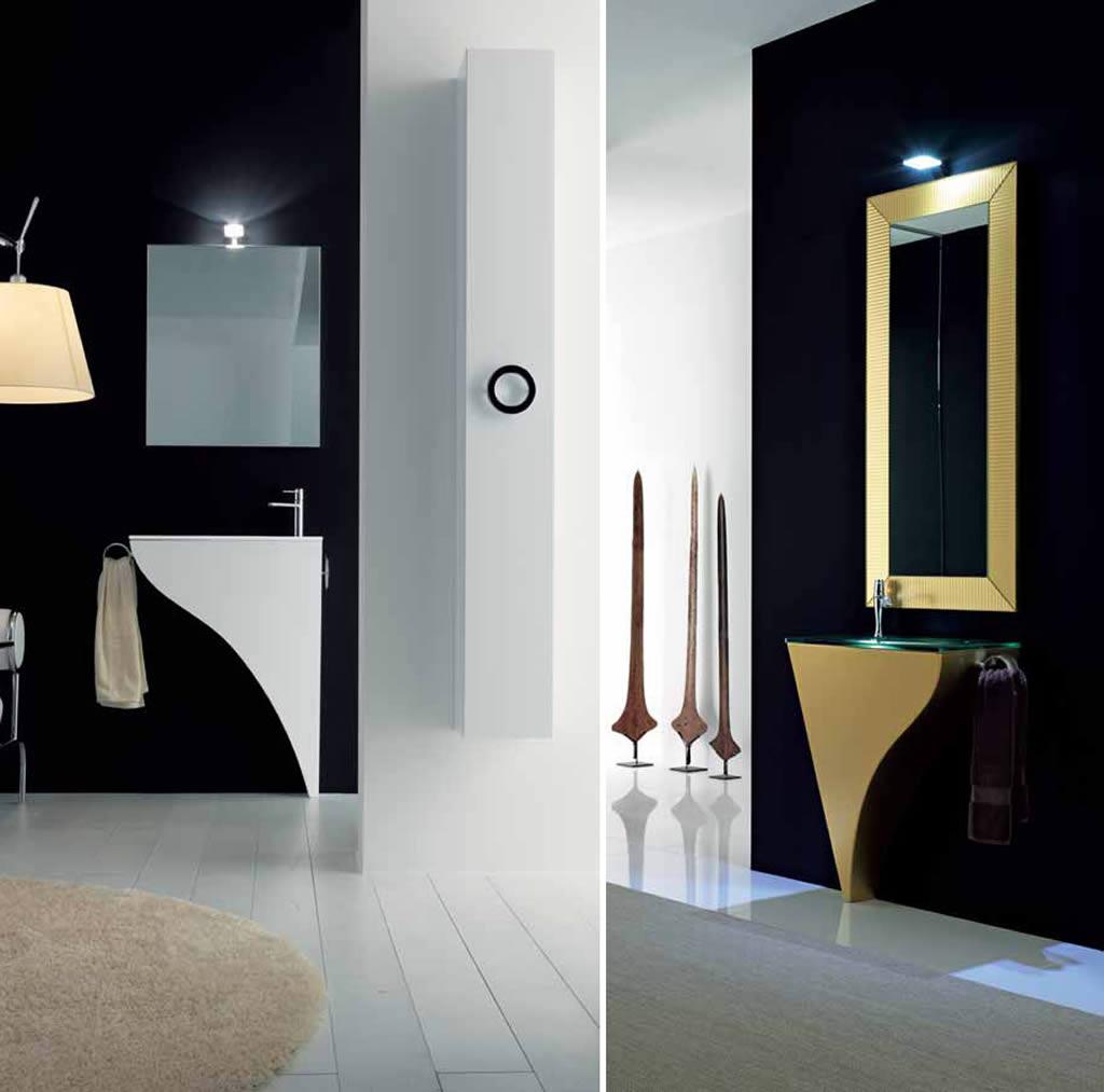Moderno mobiliario para ba os peque os for Mobiliario para banos pequenos