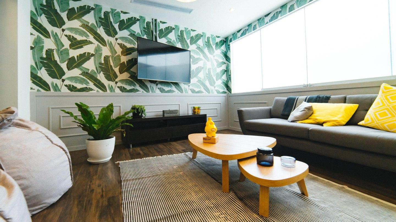 papel para muros con diseño botánico